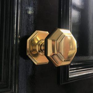Brass Georgian Octagonal Door Pull.JPG
