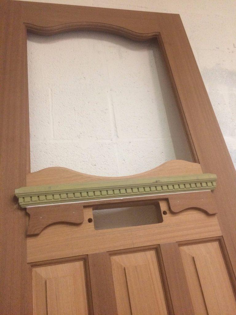 Decorative front door shelf