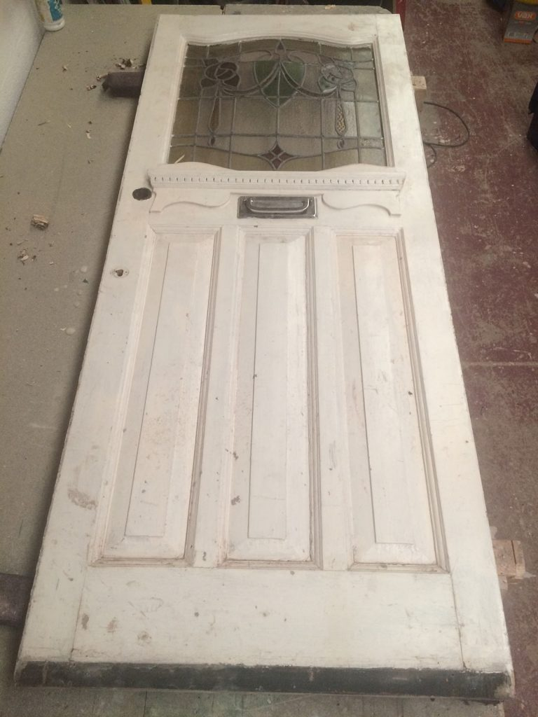 Jessica's 1930s front door for restoration