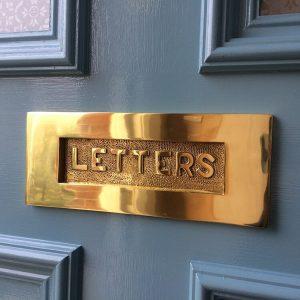 Letters Embossed Letter Plate - V845