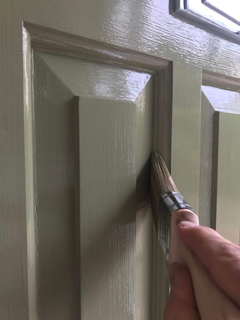 Painting cracks around door panels