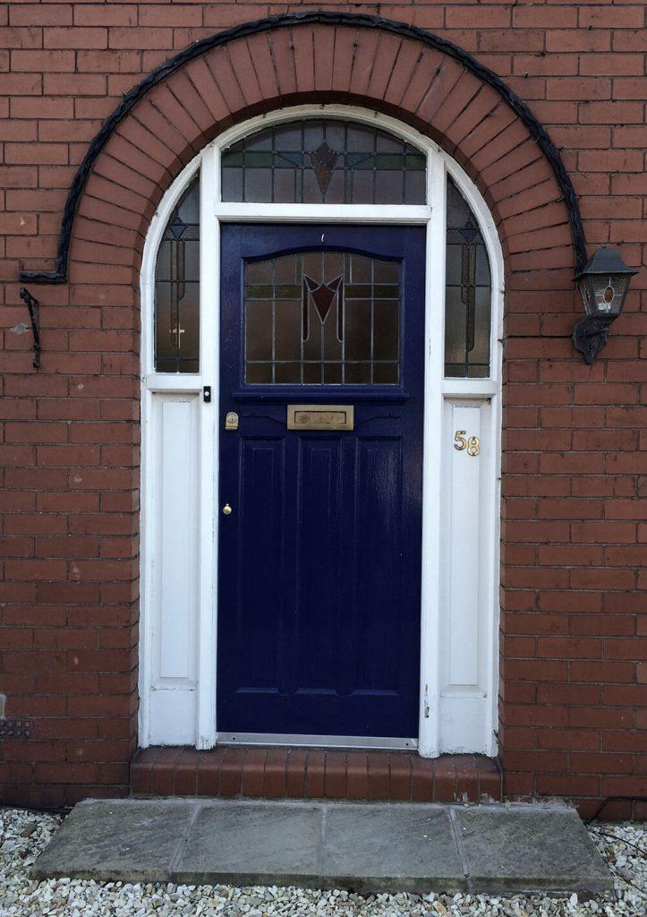Phils 1930s front door restoration before