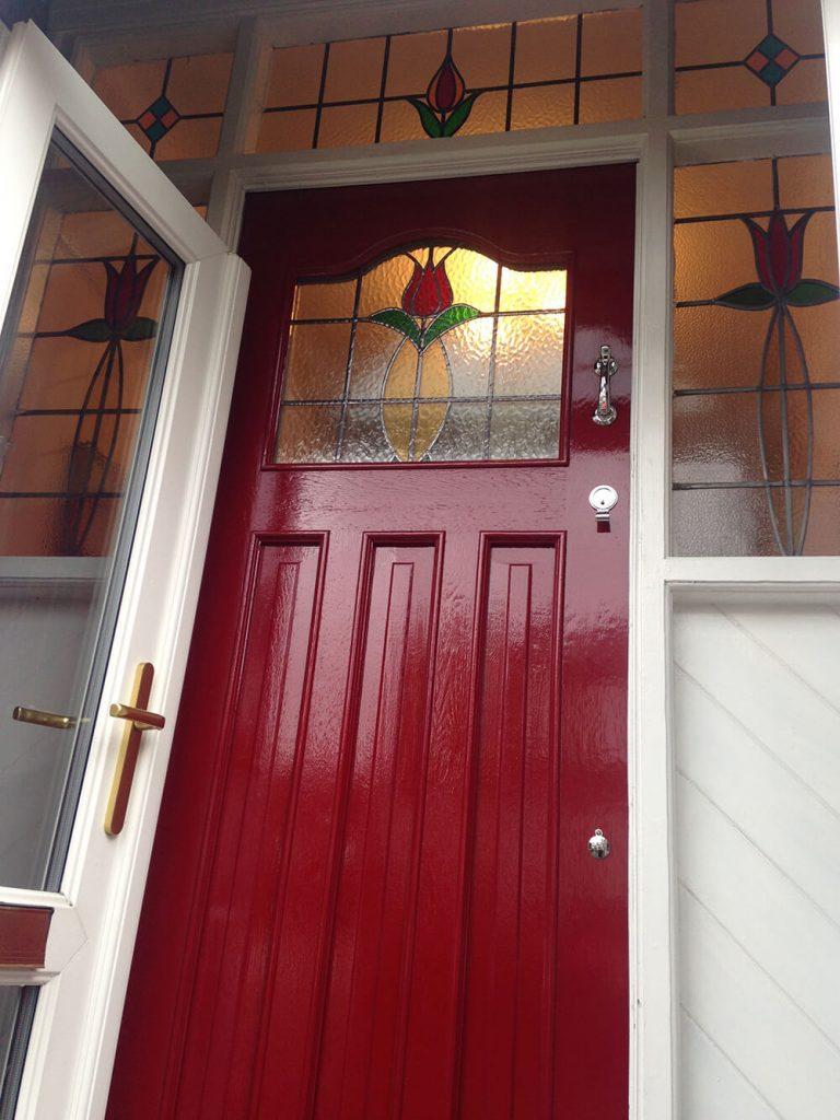 Red 1930's Front Door