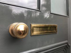 Restored Victorian Front Door Furniture
