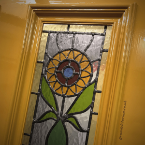 Sunflower Leaded Glass for Victorian front doors