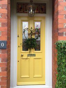 Victorian Front Door with Christmas Wreath