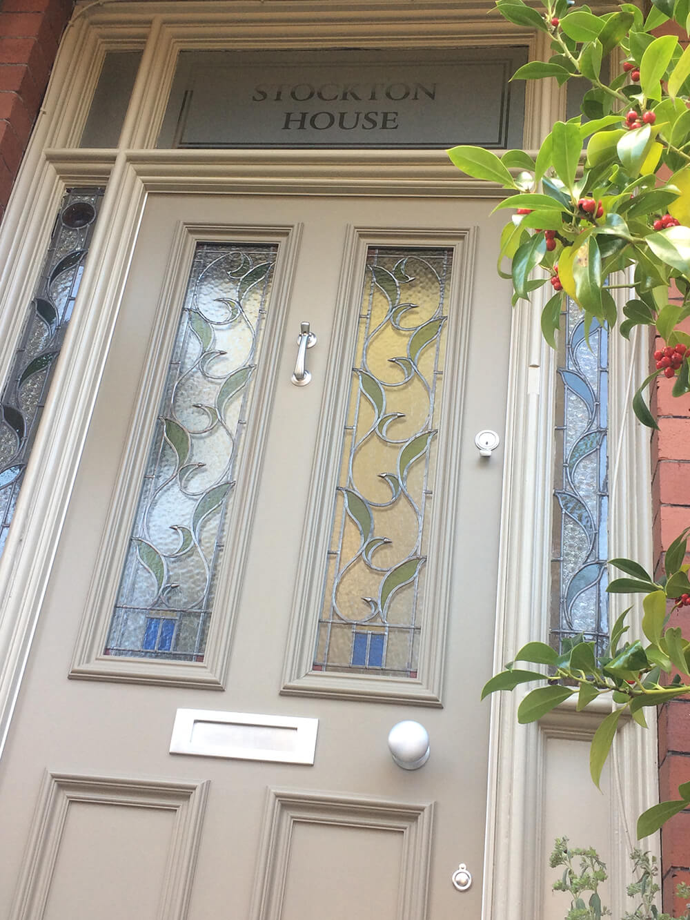 Victorian Front Door with leaded glass