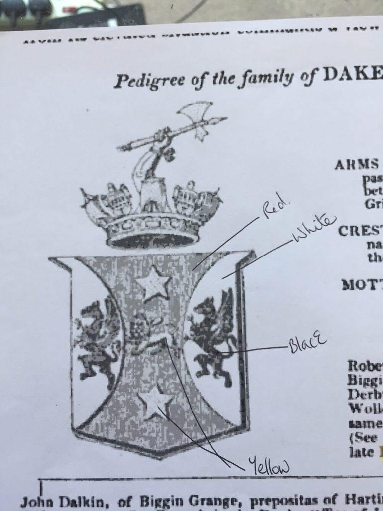 Dakeyne family crest
