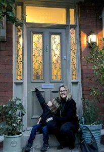 Claire and her Grand Victorian front door in Chorlton