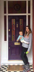 Deb and her Grand Victorian front door in Chorlton