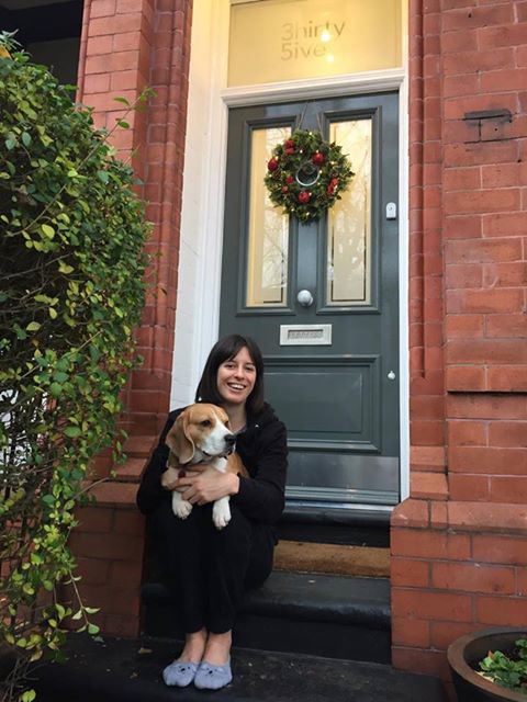 Harriet and her Grand Victorian front door in Sale