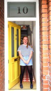 Liz and her Grand Victorian front door in Stretford