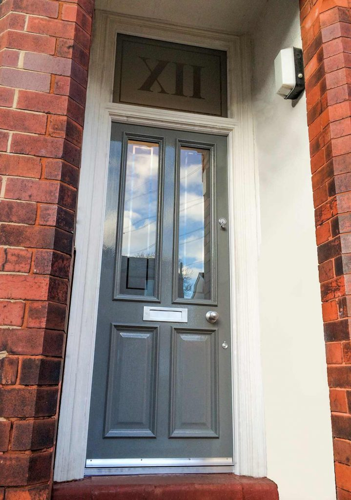 Paul's Grand Victorian front door with etched glass in Worsley
