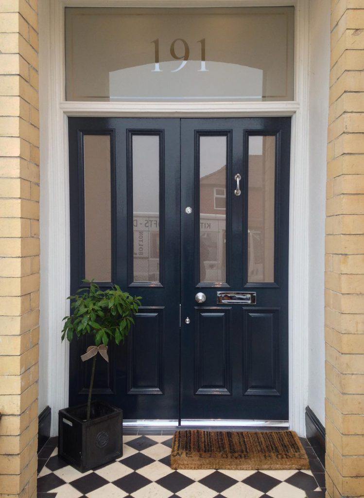 Rachel's Grand Victorian double front doors with etched glass in Urmston