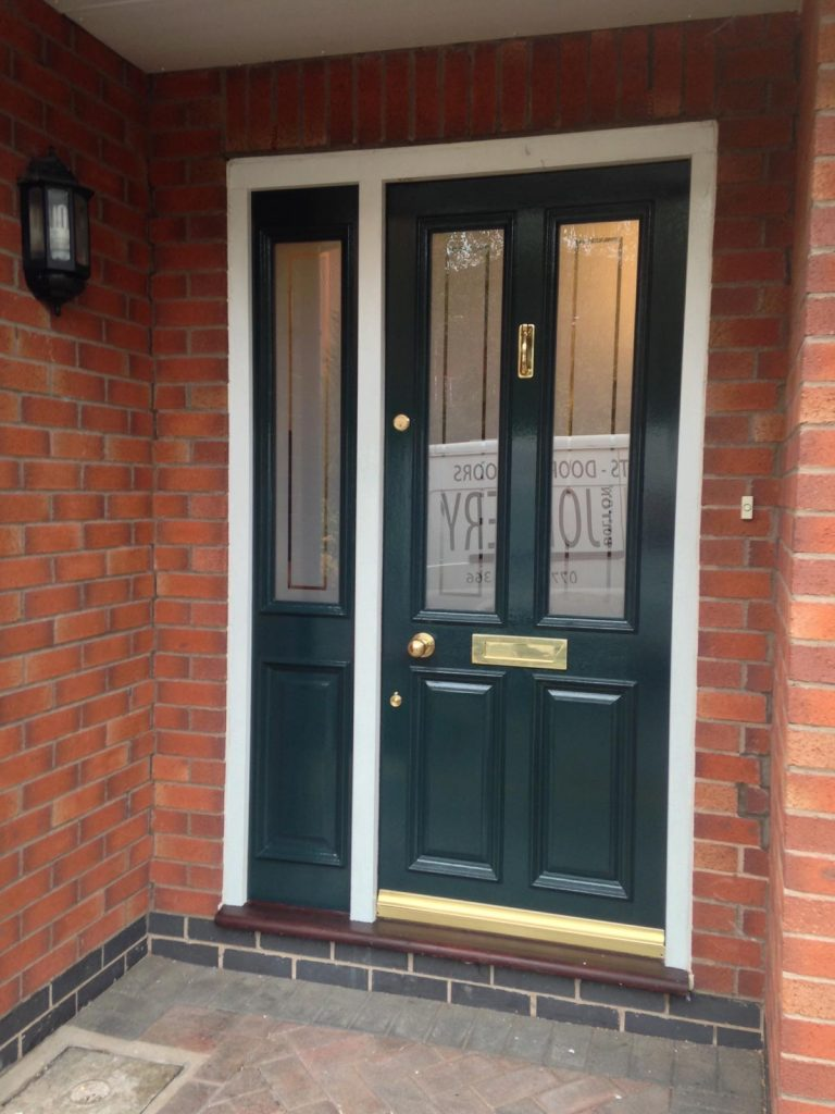 Simon's Grand Victorian front door with matching side panel in Prestwich