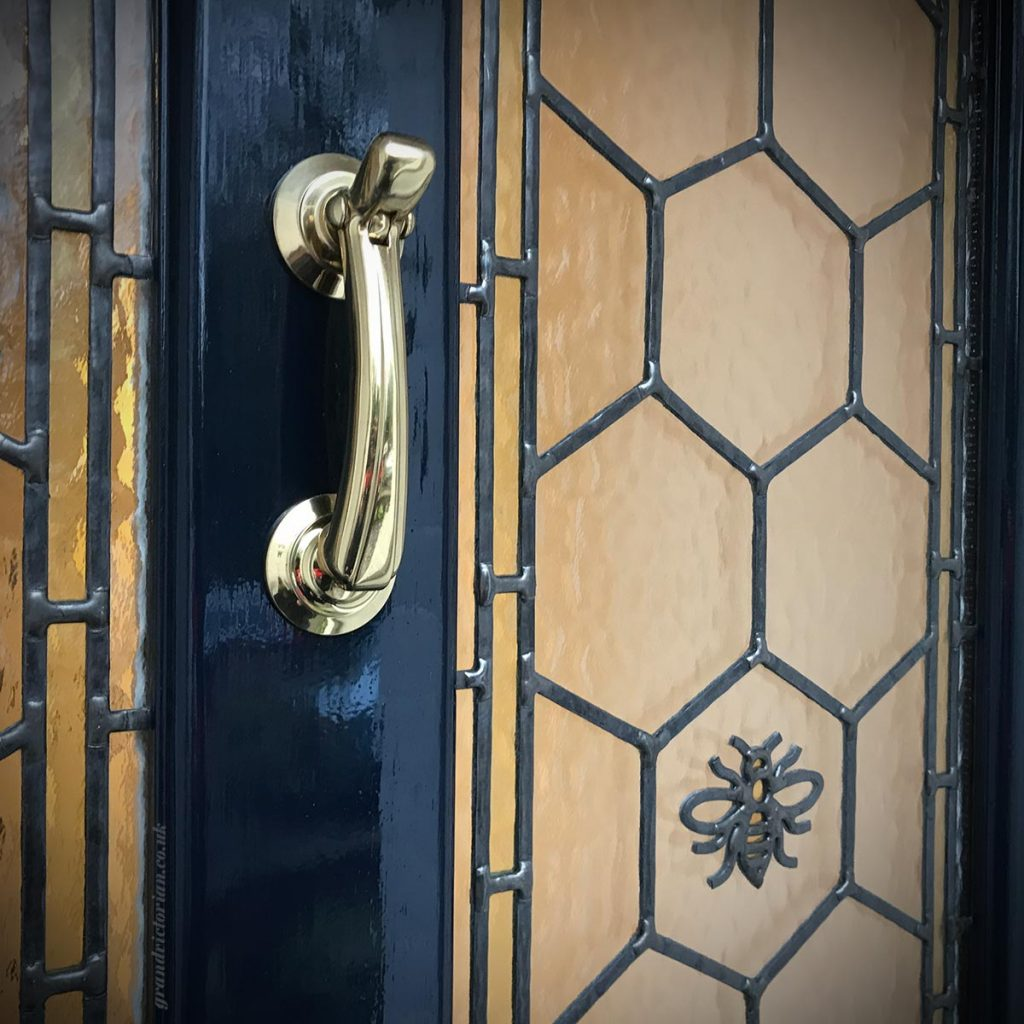 Brass front door furniture