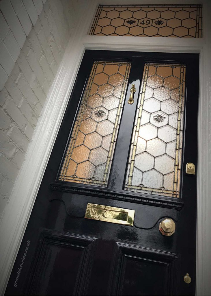 Manchester Bee Front Door Leaded Glass