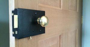 Working antique rim lock