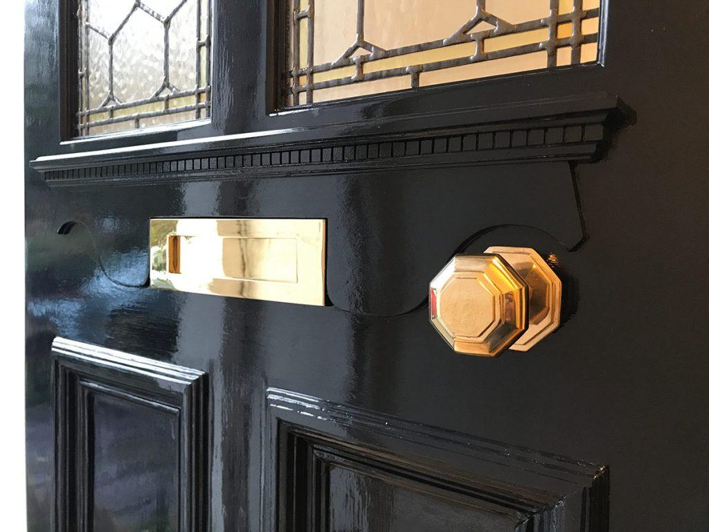 New shelf on Victorian front door
