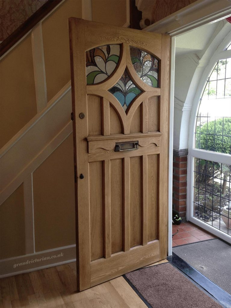 Phil's Bespoke Oak Front Door Restoration Cheadle 5-SK8-1HY
