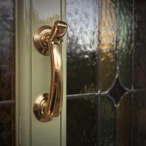 Rose Brass front door Knocker M43