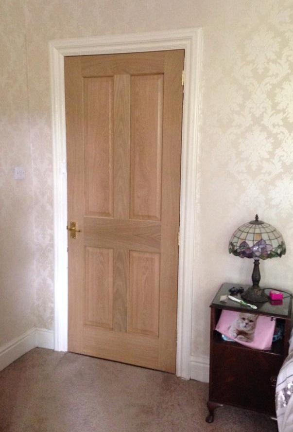 Victorian Classic oak internal door in Didsbury