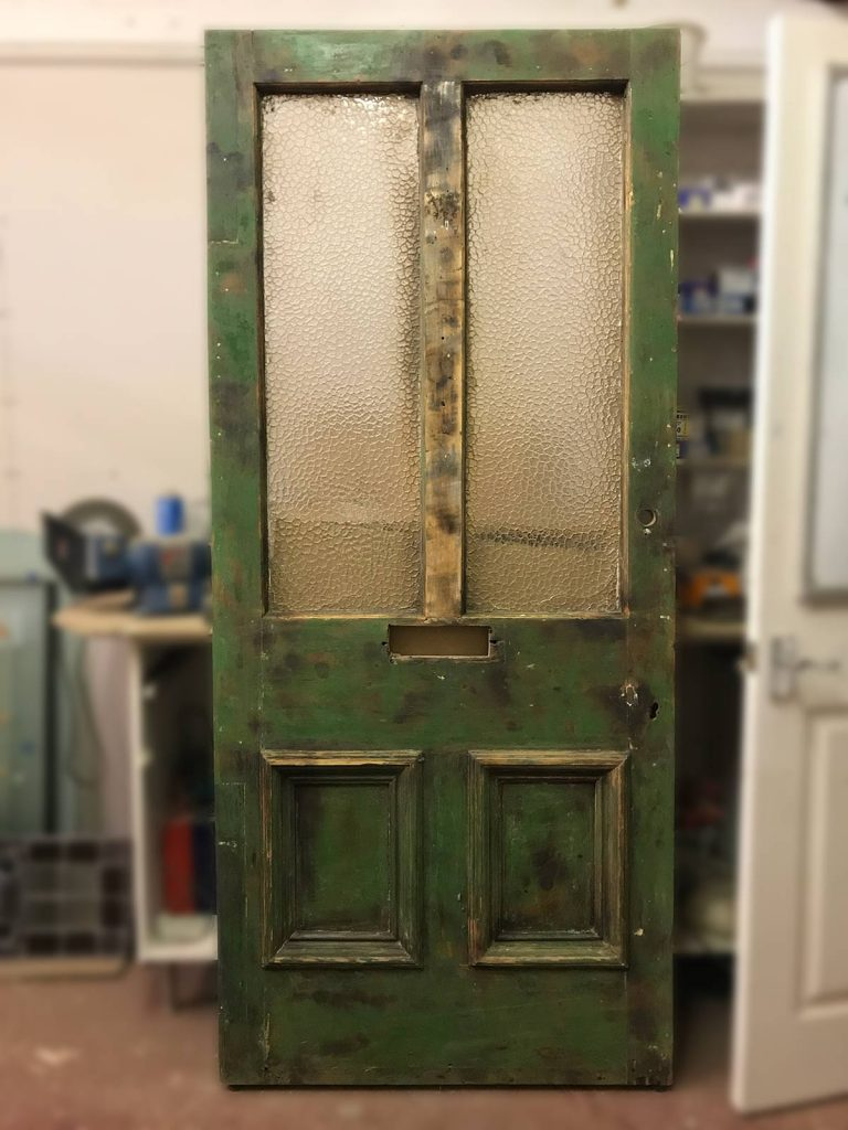 Victorian front door stripped