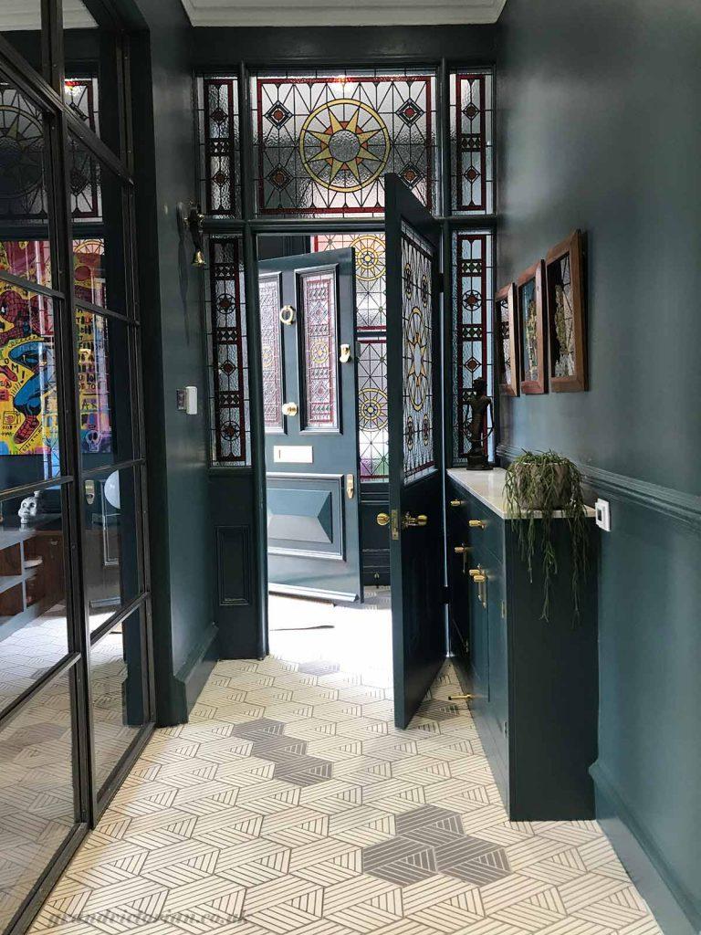 Premium Bespoke front door and leaded glass
