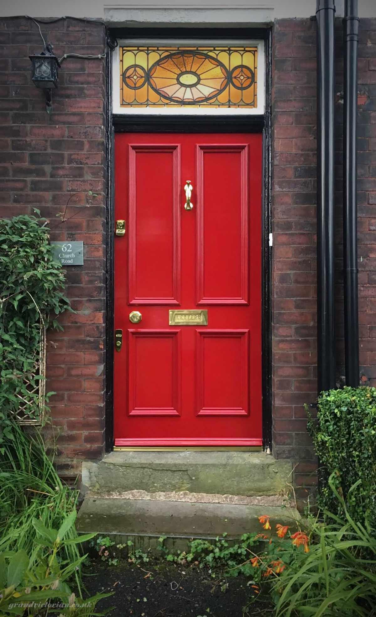 Red Victorian front door
