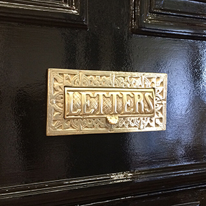 Victorian Letters Embossed Letter Plate (weighted)
