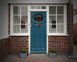 1930s front door with oval window