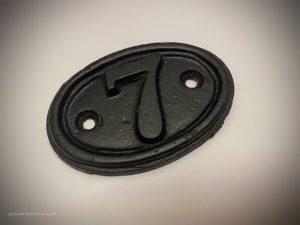 Powder-coated Victorian dront door number