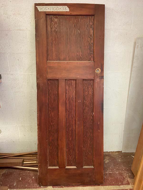 1930s Pitch Pine Internal Door 705x1900x33