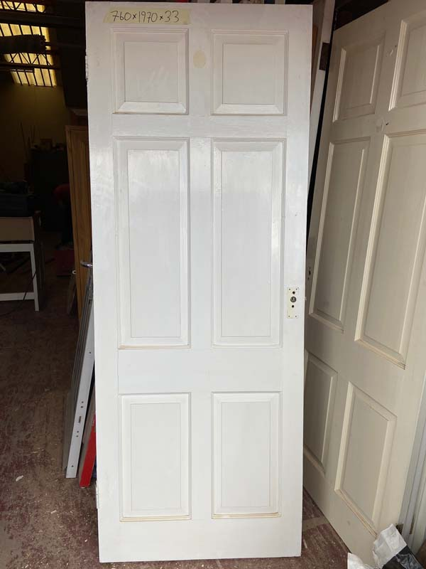 6 Panel Hardwood Victorian Internal Door 760x1970x33
