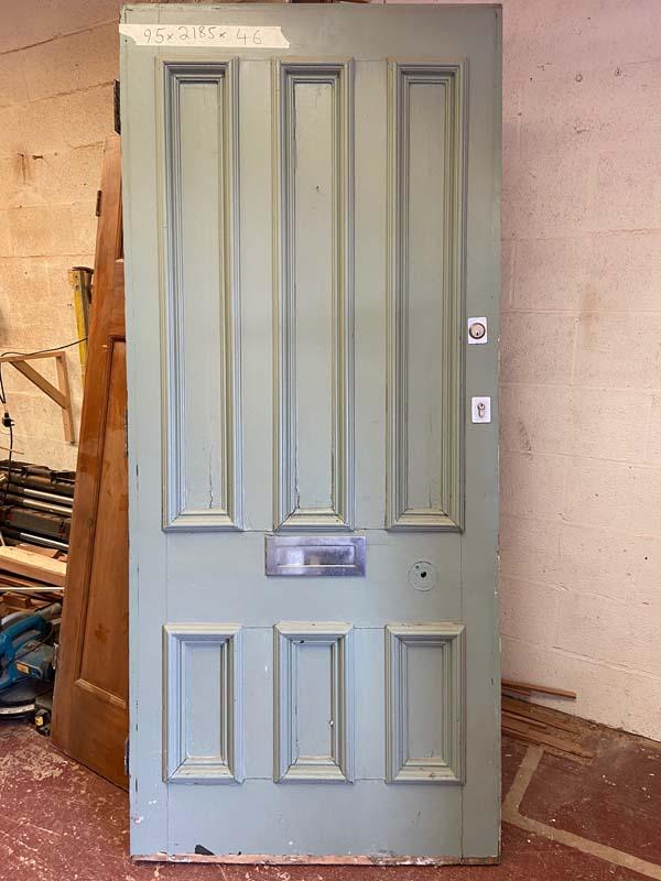 6 Panel Pitch Pine VictorianFront Door 950x2185x46