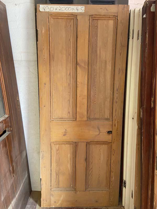 Edwardian Pitch Pine 4 Panel Internal Door 830x2000x45