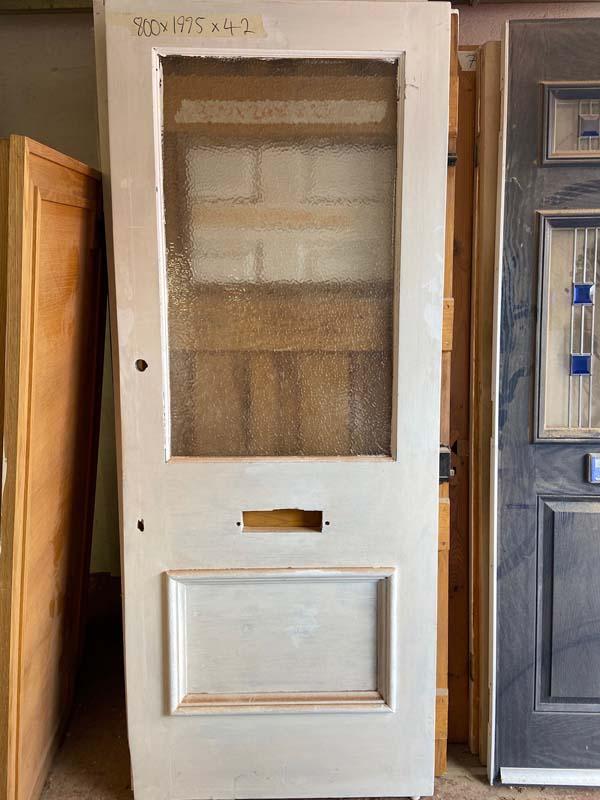 Edwardian Pitch Pine Glazed Front Door 800x1975x42