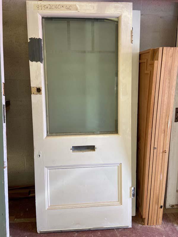 Edwardian Pitch Pine Glazed Front Door 895x2060x46