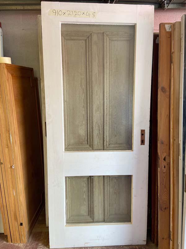 Edwardian Pitch Pine Glazed Front Door 910x2120x45