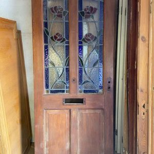 Hardwood 4 Panel Leaded Glass Front Door 865x2060x45