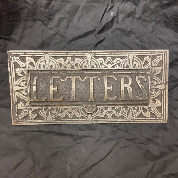 Victorian Solid Brass Letters Embossed Gravity Letter Plate