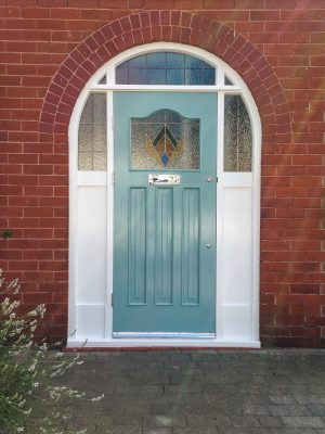 1930's Front Door with arched frame