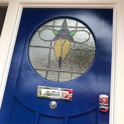 1930's Round Window Front Door
