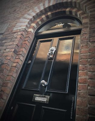 Anthony's Grand Victorian front door with solid panels