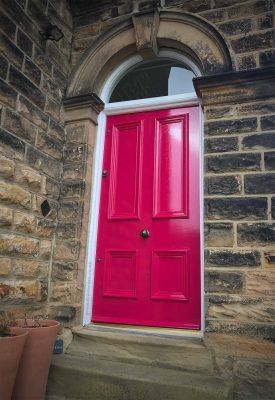 Katherine's Pink Victorian front door in Leeds 2-LS14-3AS