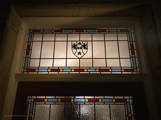 Leaded Fanlight with Dakeyne family coat of arms