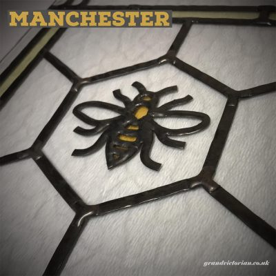 Manchester Bee Leaded Glass