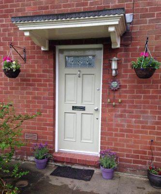 Regency Door with canopy
