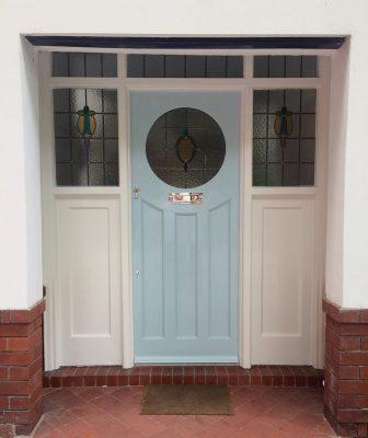 Restored 1930s Door Round Window