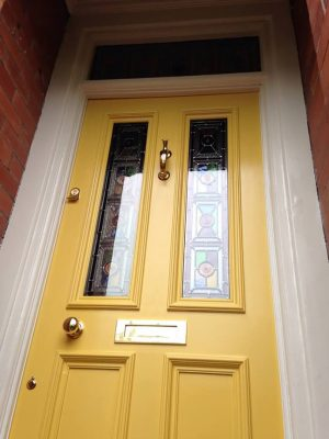 Traditional Stained Glass in Victorian Door Wilmslow